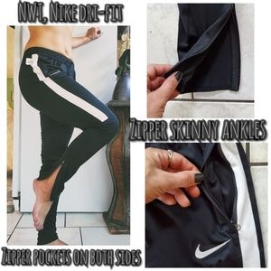 NWT, Nike Dri-fit zipper ankle skinny pants